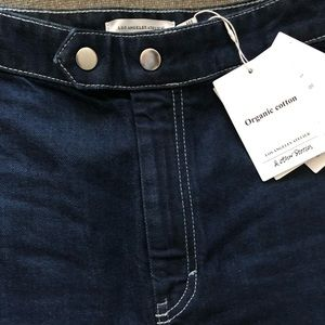 High waisted jeans in organic cotton